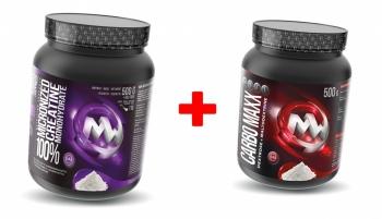 100% Micronized Creatine Monohydrate 550g + Carbo Maxx 500g - MaxxWin
