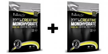 Akciový balíček Creatine Monohydrate 500g + 500g