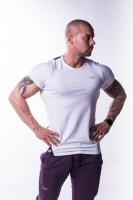 Muscle Back tričko 728 biele - NEBBIA