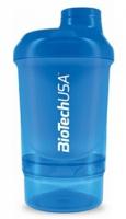 Šejker Nano modrý - 300ml + 150ml - BioTech USA