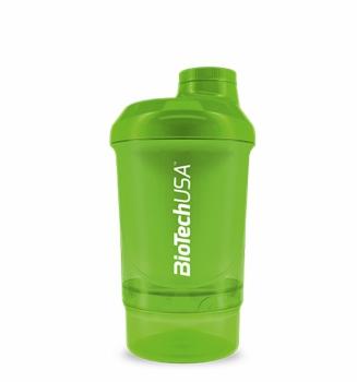 Šejker Nano zelený - 300 ml + 150 ml - BioTech USA