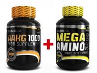 AAKG 1000 (100 tbl) + Mega Amino 3200 - 100 tab.