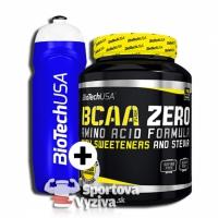 BCAA Flash Zero - 700g + športová fľaša 750ml - BioTech USA