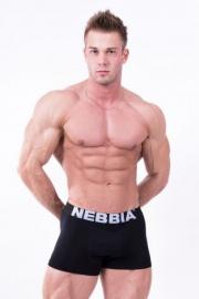 Exkluzívne pánske boxerky 101 čierne - NEBBIA