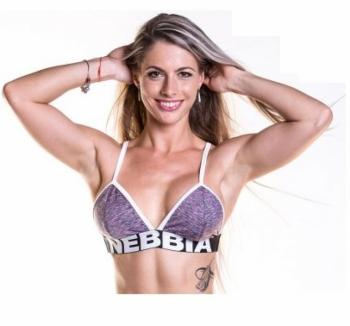 Fitness podprsenka 267 fialová - NEBBIA