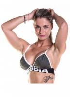 Fitness podprsenka 267 khaki - NEBBIA