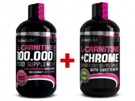 BioTech USA L-Carnitine 100 000mg (500ml) +  35 000mg + Chrome (500ml)