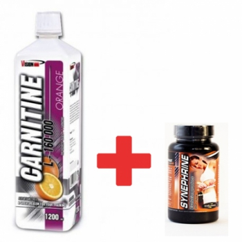 L-Carnitine 200 000mg - 1200ml + Synephrine 80 kaps. - Vision Nutrition