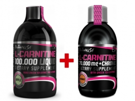 BioTech USA L-Carnitine 100 000mg (500ml) + 35 000mg + Chrome 5 mg (500ml)