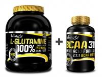 L-Glutamine 240g + BCAA 3D 90 kaps