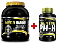 Mega Amino 3200 - 300 tab. + Creatine pH-X - 90 kaps.