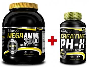 Mega Amino 3200 - 300 tab. + Creatine pH-X - 90 kaps.