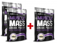 Muscle Mass 3x1000g - BioTech USA